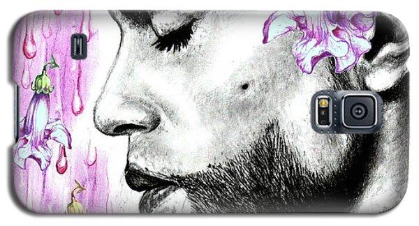Purple Flower Rain  Prince, Roger Nelson Galaxy S5 Case by Heidi Kriel