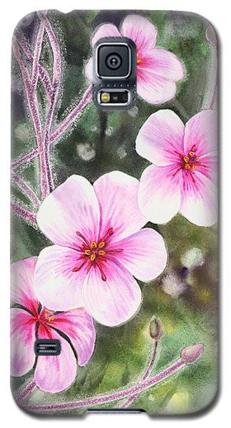 Galaxy S5 Case featuring the painting Purple Flowers In Golden Gate Park San Francisco by Irina Sztukowski
