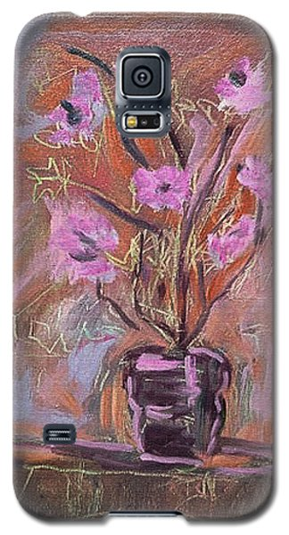 Purple Flowers In Vase Galaxy S5 Case