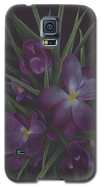 Purple Flowers Galaxy S5 Case
