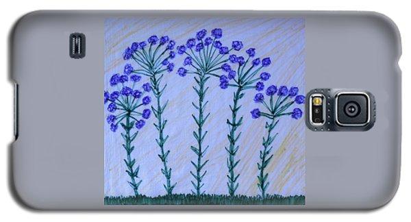 Purple Flowers On Long Stems Galaxy S5 Case