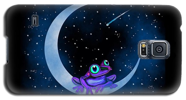 Galaxy S5 Case featuring the painting Purple Frog On A Crescent Moon by Nick Gustafson