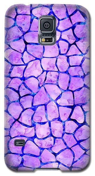 Purple Giraffe Print Galaxy S5 Case