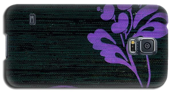 Purple Glamour On Black Weave Galaxy S5 Case