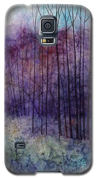 Galaxy S5 Case featuring the painting Purple Haze by Hailey E Herrera