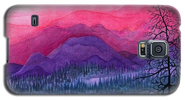 Purple Hills Galaxy S5 Case by Adria Trail
