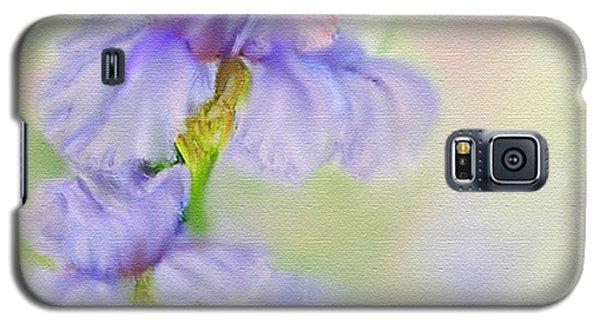 Galaxy S5 Case featuring the painting Purple Iris by Bonnie Willis
