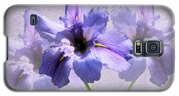 Purple Irises Galaxy S5 Case by Rosalie Scanlon