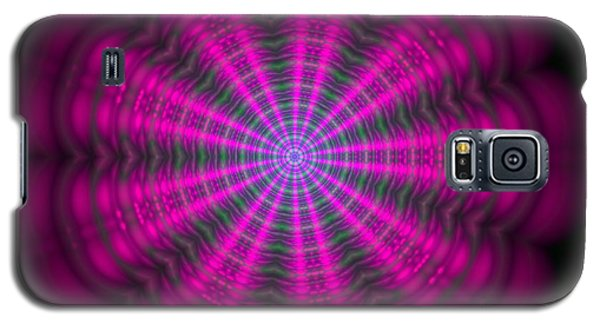 Purple Lightmandala Ripples Galaxy S5 Case by Robert Thalmeier