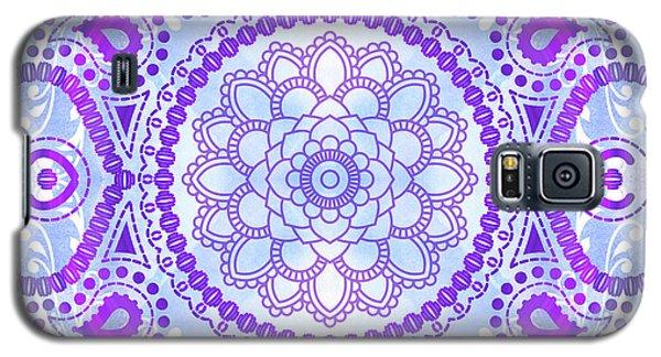 Purple Lotus Mandala Galaxy S5 Case by Tammy Wetzel