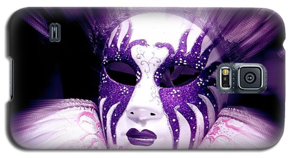Galaxy S5 Case featuring the photograph Purple Mask Flash by Amanda Eberly-Kudamik