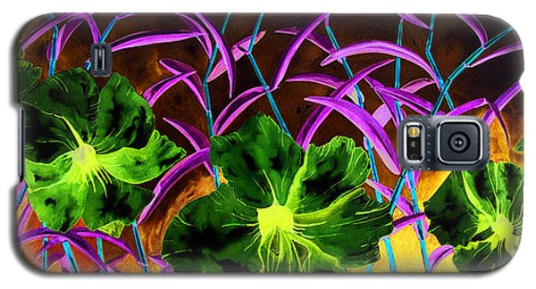 Purple Morning Flower Galaxy S5 Case