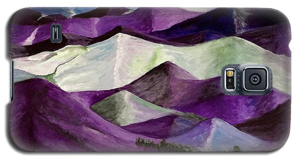 Galaxy S5 Case featuring the painting Purple Mountains Majesty by Kim Nelson