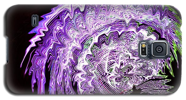 Galaxy S5 Case featuring the photograph Purple Mushroom by Linda Constant