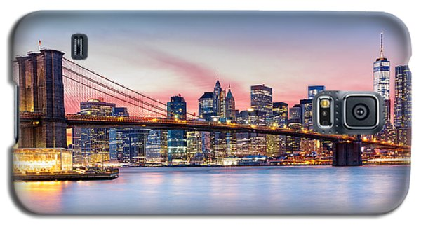 Purple Nyc Sunset Galaxy S5 Case