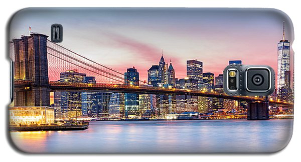 Purple Nyc Sunset Galaxy S5 Case