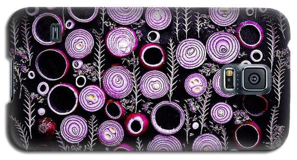 Purple Onion Patterns Galaxy S5 Case