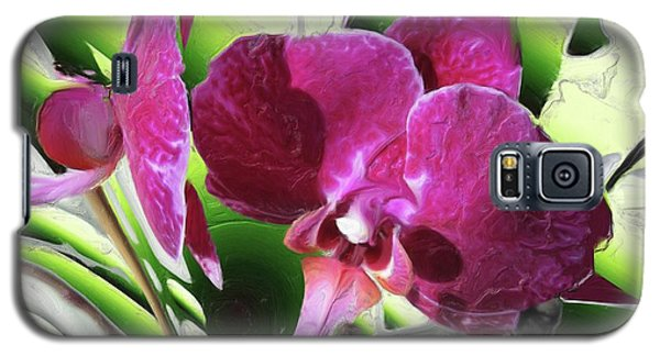 Purple Orchid Galaxy S5 Case