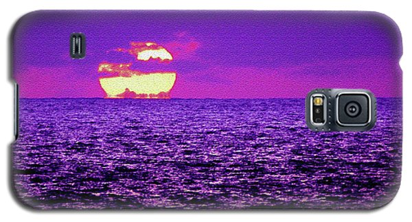 Purple Pacific With Sandstone Texture Galaxy S5 Case