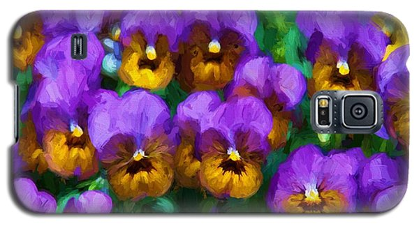 Purple Pansies Galaxy S5 Case