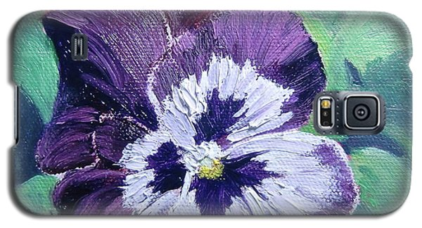Purple Pansy Galaxy S5 Case by Bonnie Heather