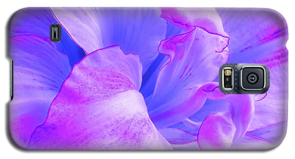 Purple Petals Abstract Galaxy S5 Case by Gill Billington