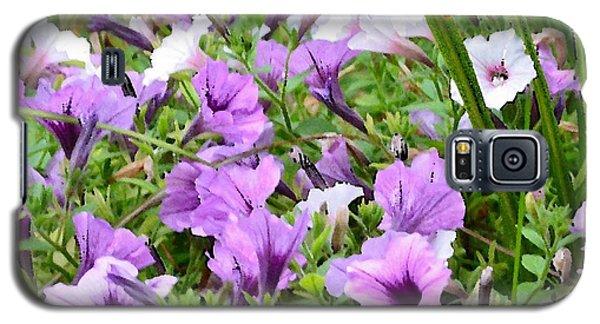 Purple Petunias Galaxy S5 Case