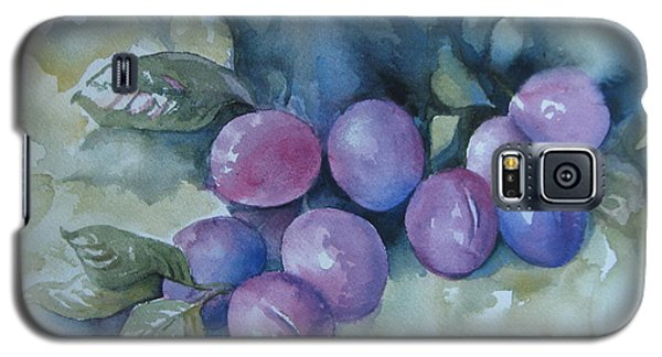 Galaxy S5 Case featuring the painting Purple Plums by Elena Oleniuc