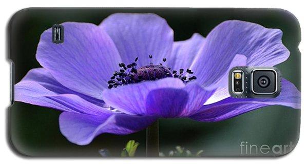 Purple Poppy Mona Lisa Galaxy S5 Case