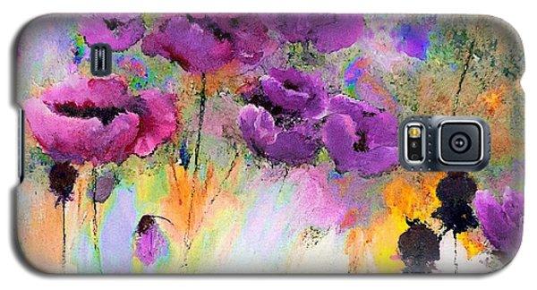 Purple Poppy Passion Painting Galaxy S5 Case