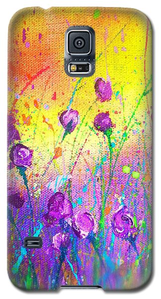 Purple Posies Galaxy S5 Case