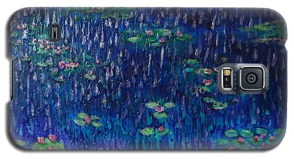 Purple Rain On Water Lilies Galaxy S5 Case