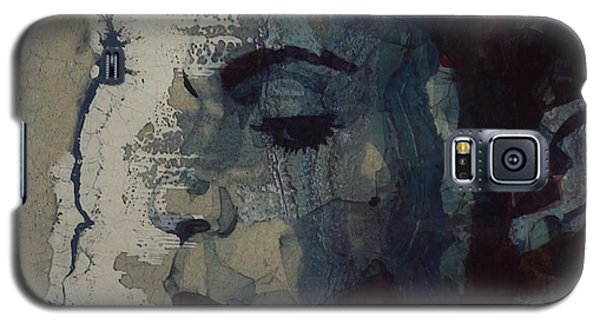 Galaxy S5 Case featuring the mixed media Purple Rain - Prince by Paul Lovering