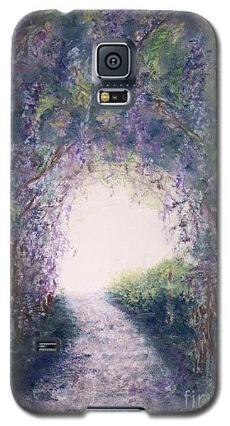 Galaxy S5 Case featuring the painting Purple Rain by Stanza Widen