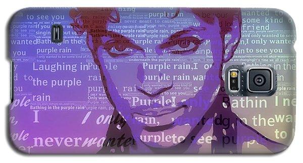 Purple Rain Typography Galaxy S5 Case