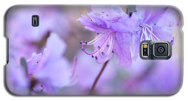 Galaxy S5 Case featuring the photograph Purple Rhododendron 1. Spring Watercolors by Jenny Rainbow