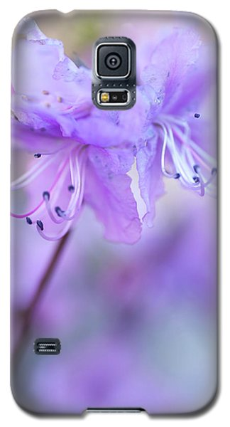 Galaxy S5 Case featuring the photograph Purple Rhododendron. Spring Watercolors by Jenny Rainbow