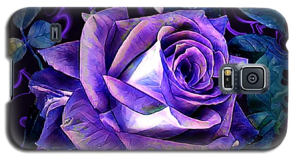 Purple Rose Bud Painting Galaxy S5 Case