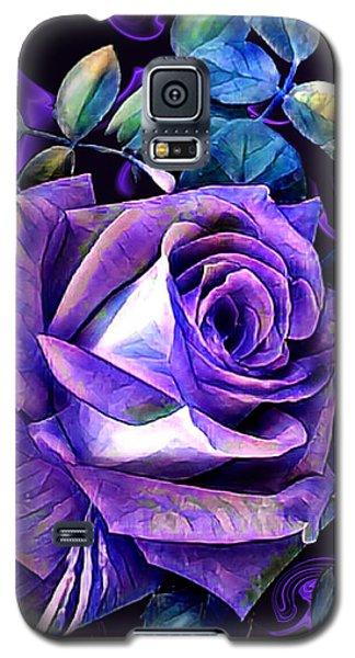 Purple Rose Bud Painting Galaxy S5 Case