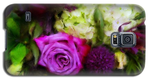 Purple Roses With Hydrangea Galaxy S5 Case
