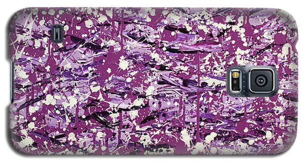Purple Splatter Galaxy S5 Case