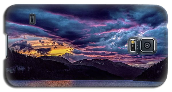 Purple Sunset At Summit Cove Galaxy S5 Case