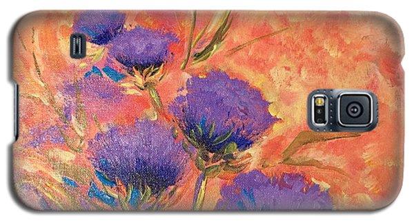 Purple Thistles Galaxy S5 Case