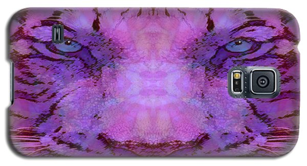 Galaxy S5 Case featuring the photograph Purple Tiger by Barbara Tristan