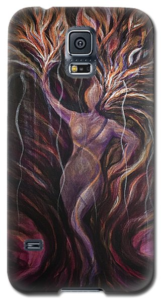 Purple Tree Goddess Galaxy S5 Case