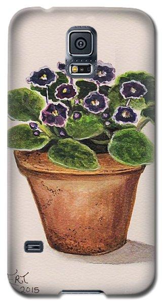 Garden Galaxy S5 Case - Purple Violets by Elizabeth Robinette Tyndall