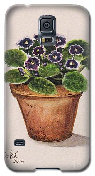 Purple Violets Galaxy S5 Case by Elizabeth Robinette Tyndall