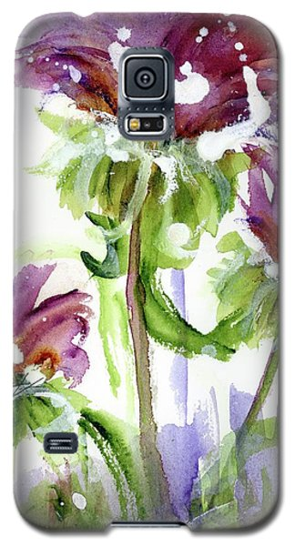 Galaxy S5 Case featuring the painting Purple Wildflowers by Dawn Derman