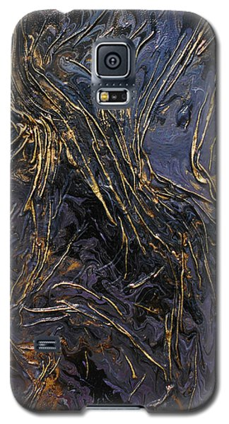 Purple With Texture Galaxy S5 Case by Angela Stout