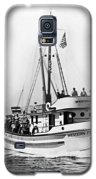 Purse Seiner Western Flyer On Her Sea Trials Washington 1937 Galaxy S5 Case by California Views Mr Pat Hathaway Archives